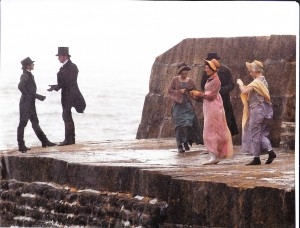 "Filming of ""Persuasion"" on the Cobb"